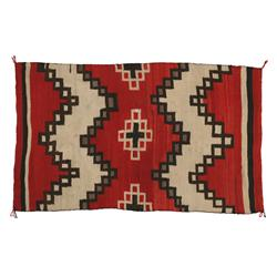 "Navajo Textile, 68"" x 42"", C. 1900, very good condition"