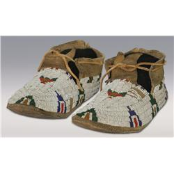 Cheyenne Beaded Moccasins, 19th century