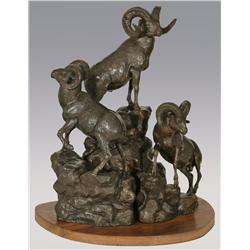 "Robert Scriver, bronze, 1960, 20"" x 16"" x 13"", Trophy. Cowboy Artists of America."