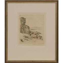 Edward Borein, etching