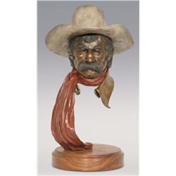 """Jerry Snodgrass, bronze, 1993, 19 1/2"""" x 11"""", Drover"""