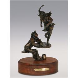"Pamela Harr, bronze, 1991, 11"" x 6"" x 4"", Cuttin' a Rug"