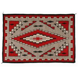"Navajo Weaving, Klagetoh, 104"" x 71"", C. 1940, excellent condition"