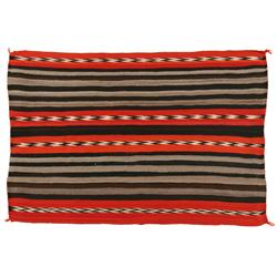"Second Phase Navajo Chief's Blanket, 65"" x 43 1/2"", C. 1890, excellent"
