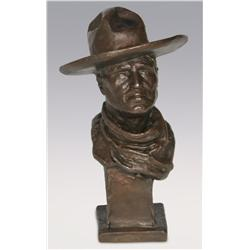 "John Marchand, bronze, 8 1/2"" x 5"", C.M. Russell"