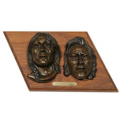 "Earle E. Heikka, pair of bronzes, 1941. 7 3/4"" x 13"""