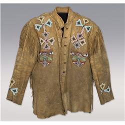 Cree Man's Coat from buffalo hide,  C. 1870