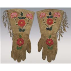 Plateau Child's Beaded Gauntlets,
