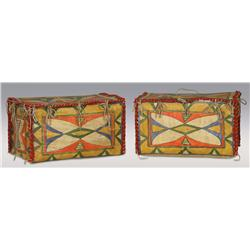 Pair of Sioux Parfleche Trunks, C. 1920s, excellent condition