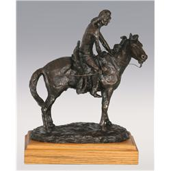 "Ace Powell, bronze, 14"" x 11"" x 6"", 1971. The Tracker"