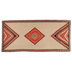"Navajo Germantown Weaving, 51"" x 111"", C. 1890, fine condition"
