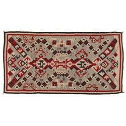 "Navajo Textile, Bisti Badlands Area, 93"" x 50"", C. 1930, excellent condition"