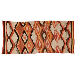 "Navajo Weaving, 109"" x 50"", fine condition"