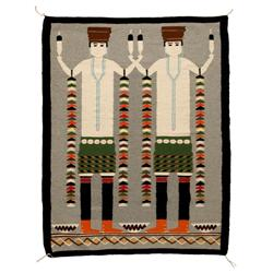 "Oriental Yei Weaving, 56"" x 44"",C. 1970,  mint condition"