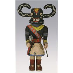 "Hopi Kachina, The Black Ogre, 11"" x 6 1/2"", early 20th century"
