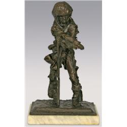 Fritz White, bronze, 13  x 8  x 6 , Mountain Man. Cowboy Artists of America.