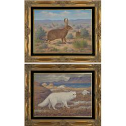 Robert Lindneux, two oils on canvas, dated 1927 & 1929