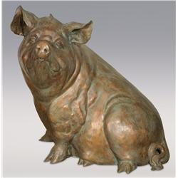 "Sandy Scott, bronze, 37"" x 24"" x 34"", Eat More Beef"