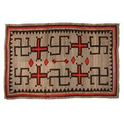"""Navajo Weaving, 74"""" x 113"""", C 1890-1900"""