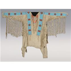 Piegan Blackfoot Man's Warshirt, early 20th century, belonged to Many Guns