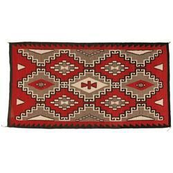 """Navajo Weaving, Klagetoh Area, 92"""" x 49"""", C. 1930-40s"""