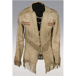 Cree Quilled Shirt, fine quillwork, 1860s, nice condition