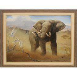 Tom Mansanarez, oil on canvas