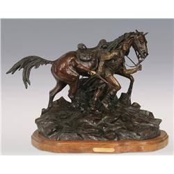 Ken Payne, bronze, 1997, 20  x 26  x 13 ,Canyon Shadow