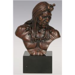 "John Weaver, bronze, 9"" x 8"" x 4"", Indian Head"
