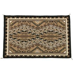 Navajo Weaving, Two Grey Hills, 57  x 76 , Woven by Lucy P. Benally