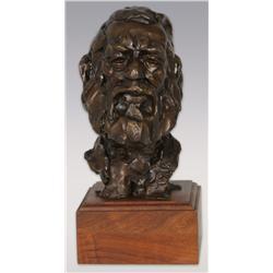 """Gary Schildt, bronze, 9"""" x 5"""" x 6"""", Old Man"""