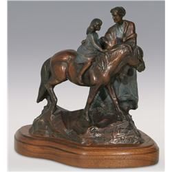 "Veryl Goodnight, bronze, 1992, 8"" x 8"" x 5"", Birthday Pony"