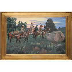 Richard Luce, oil on canvas