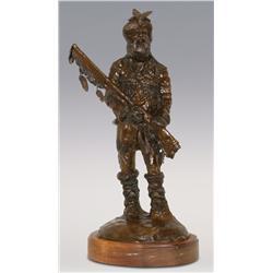 Dan Huber, Bronze, 19  x 10 1/2  x 6 , Trapper
