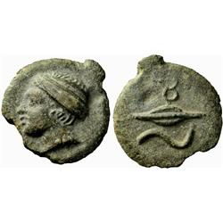 Greek coins. Semis first half of 3rd century BC, Æ 118.69g.