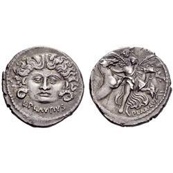 Roman Rep. L. Plautius Plancus. Denarius 47, AR 3.95g.