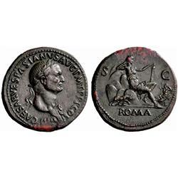 Roman Empire. Vespasian, 69–79. Sestertius, 71, Æ 28.39g.