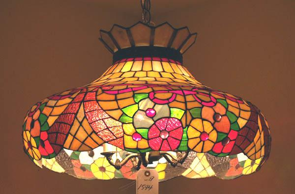 Vintage Stained Glass Hanging Lamp Must Be Picked Up