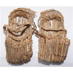 PAIR OF REED SHOES