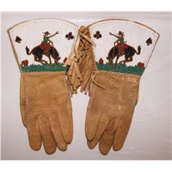 NEZ PERCE PICTORIAL GLOVES