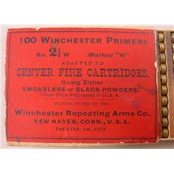 C. 1878 BOX OF 100 WINCHESTER PRIMERS - Pat. Date