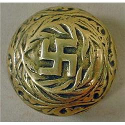 1942 WW2 GERMAN NAZI PAPERWEIGHT OR CANE TOP - Has