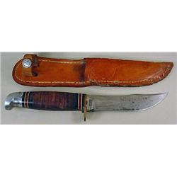 VINTAGE WESTERN OFFICIAL BOY SCOUT HUNTING KNIFE W