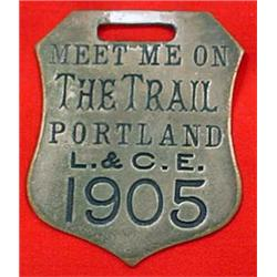 1905 LEWIS AND CLARK EXPOSITION WATCH FOB - PORTLA