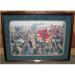 "LARGE FRAMED LTD. ED. CIVIL WAR ART PRINT ""BEDLAM"
