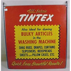 VINTAGE TINTEX ADVERTISING SIGN - Enamel on Tin. A