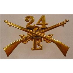 INDIAN WAR ERA BUFFALO SOLDIER CAP INSIGNIA - 24th