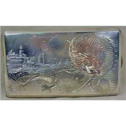 WW2 SHANGHAI CIGARETTE CASE - Marked Silver on the