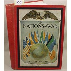 1918  THE NATIONS AT WAR  HARDCOVER BOOK - Numerou