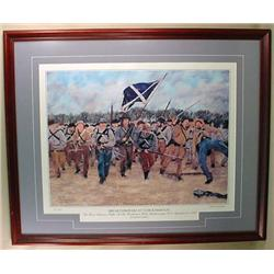 LARGE FRAMED LTD. ED. CIVIL WAR ART PRINT  BREAKTH